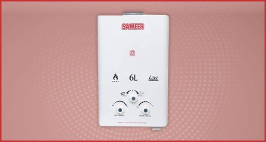 Sameer 6 Litre Creamish White Gas Geyser