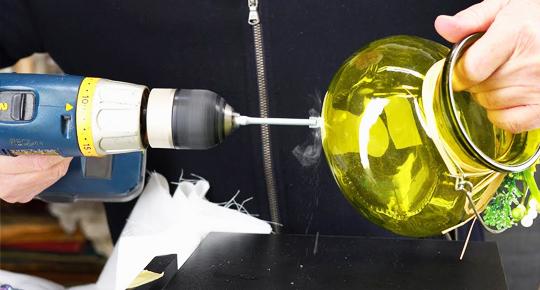 Drill in Glass