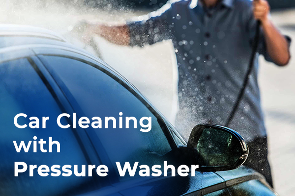 Car Cleaning with Pressure Washer