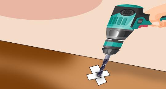 1.Drill Pilot Holes